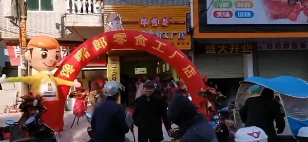 热烈祝贺广西玉林陆川乌石7元9零食加盟店开业大吉