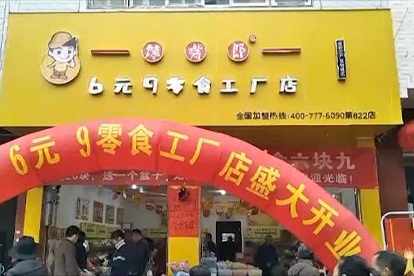 馋嘴郎第822店:广东河源东源县仙塘镇6块9零食加盟店